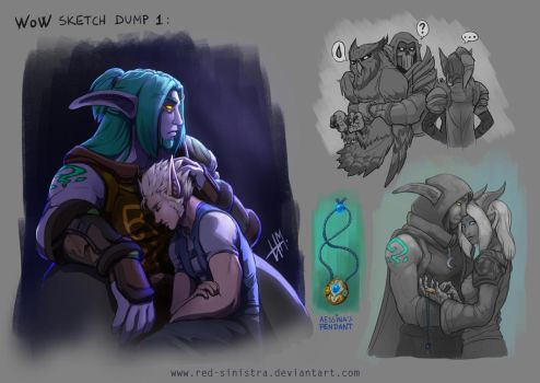 WoW - Sketch Dump 1 by Red-Sinistra