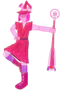 just a robot witch by antiderivativebanana