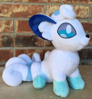 Sitting Alola Vulpix Plushie by The-Crafty-Kaiju