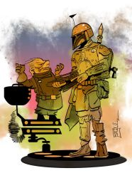 Ugnaught and Fett by CartoonCaveman