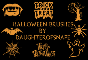 Halloween Brushes by daughterofsnape