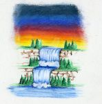 Waterfall - Color Pencil 2011