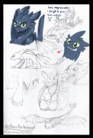 Toothless sketches by mmishee