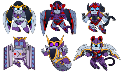 Chibi Multitrackers by StarryTiger