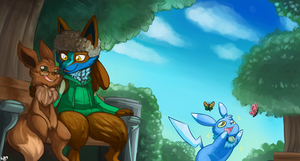 Commission - A day in the park by lemondragon19