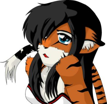 Anthro Tiger Pic by NNBTK