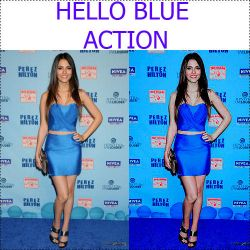 Hello Blue Action by GlassAndBrokenHearts