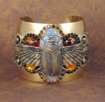Winged Scarab cuff by bchurch