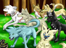 Soul Eater Wolves by ElectricLimeRose