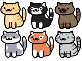 Neko Atsume Adoptables -CLOSED- by Xaras-adopts