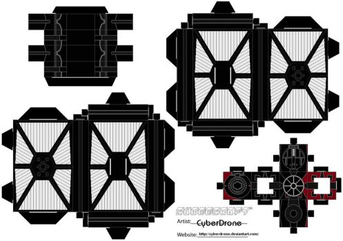 Cubee - First Order Tie Fighter by CyberDrone