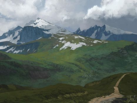 Mountain Pass-study by gothicAge