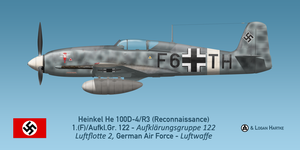 Photo-reconnaissance Heinkel He 100D-4/F3, Sicily by comradeloganov