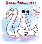_Summer Flamingo YCH: OPEN_ by RobicTheEscapist