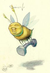 strainer bee by itch1