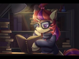Late night studying by Ardail
