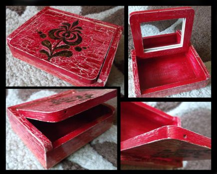 Jewel box with traditional hungarian ornament by gszabi