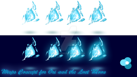 Wisps Concept for Ori and the Lost Moon (PNG) by Joy144SK