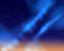 Background - Starry Sky by SweetSilvy