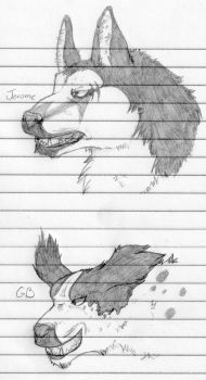 Jerome and GB sketches by nightwindwolf95