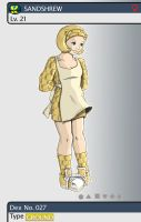 Gijinka Pokemon 027 Sandshrew by saurodinus