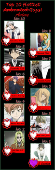 My 10 Hottest Anime Guys!!!! - 2014 by MoonSpider95