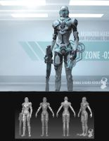 Future soldier female concept by jeremiahconcept