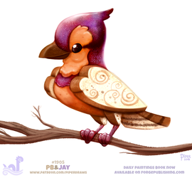 Daily Paint 1905# PB and Jay by Cryptid-Creations