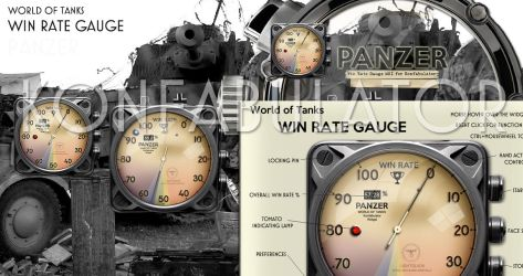 World of Tanks Win Rate Gauge by yereverluvinuncleber