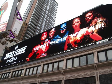 Justice League Over Yonge And Dundas by Neville6000