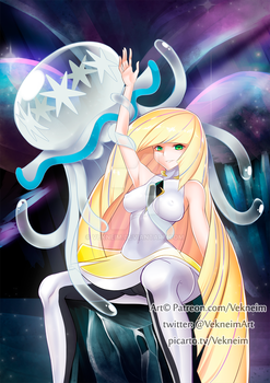 Lusamine and Nihilego (Pokemon S/M) by Vekneim