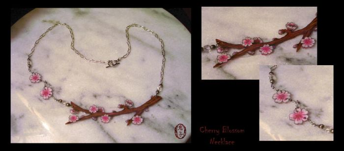 Cherry Blossom Necklace by Oniko-art