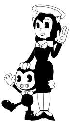 Bendy and Alice (Toon Forms) by Gamerboy123456