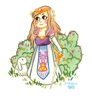 Princess Zelda by inu-steakcy