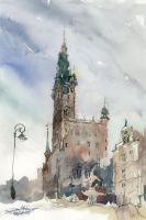 Gdansk City Hall, 51x36cm by NiceMinD