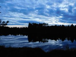 Marbled lake and a marbled sky by evangeline40003