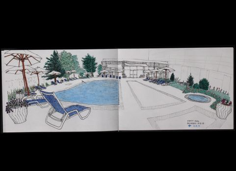 Pool sketch by Vautch