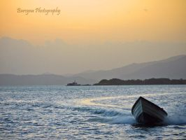 lonely boat,.- by burcyna