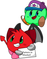 Partners in mischeif by Kirbysquad10