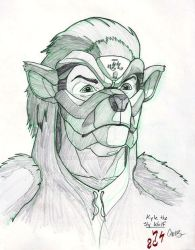 Kyle the Sly Wolf by Carlzors