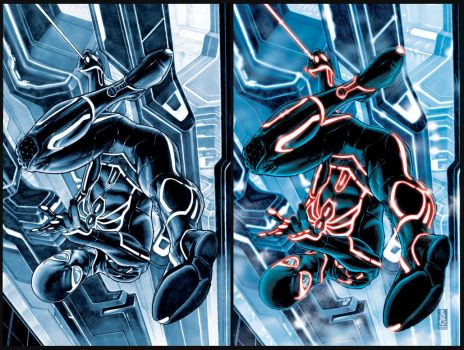Spider-man TRON-ified by diablo2003