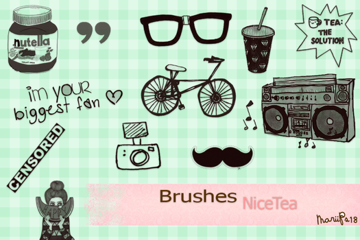 Brushes Nice Tea by MariiPs18