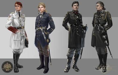 Military Characters by Feivelyn