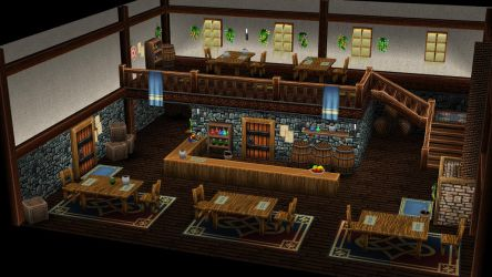 Grinning husky tavern - no characters by sudro