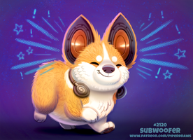 Daily Paint 2120. Subwoofer by Cryptid-Creations