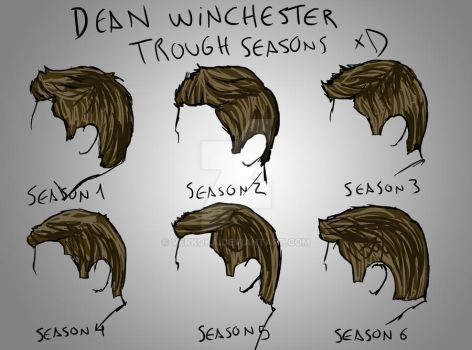 Dean Winchester hairs seasons by verkoka