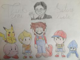 One Year of remembering Satoru Iwata.. by SuperMLbros