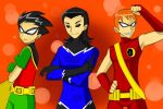 3 Titan Hoties!!!Aqualad,Speedy and Robin!! by RednBlackDevil