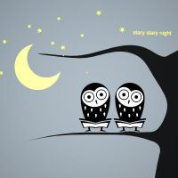 owls in stary stray night by luwe2009