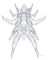 The CoDD: Tiamat6A1 MK II. Lineart by Nsio
